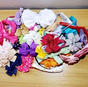 Bundle of 40 Hairbands With Bows